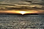 Petit coucher de soleil depuis le Mambo Bar à Ibiza